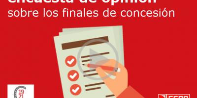 ENCUESTA DE OPINIÓN: FINALES DE CONCESIÓN