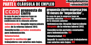 INFO HUELGA AUTOPISTAS – PARTE I: LA CLÁUSULA DE EMPLEO