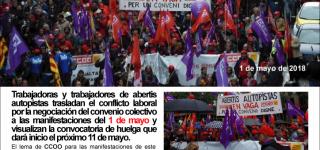 EL CONFLICTO ABERTIS AUTOPISTAS PRESENTE EN EL  1 DE MAYO