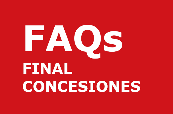 FAQS final concesiones